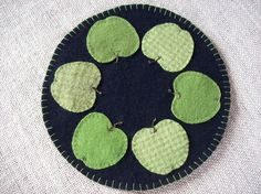 green apple penny rug . . .
