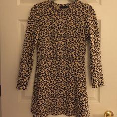 Like new zara leopard print skater dress Size S, great condition  Zara Dresses Mini