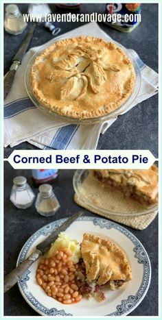 Corned Beef Pie, Beef Pies, Corned Beef Recipes, Meat Recipes, Savoury Recipes, Recipes Dinner, Pastry Recipes, Baking Recipes, Herbert Lom