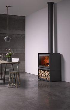 Stuv 16-H met houtopslag - Product in beeld - - Startpagina voor sfeerverwarmnings ideeën | UW-haard.nl