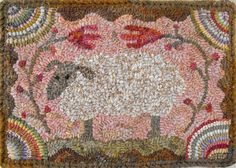 Sheep Daydream...~♥~. Rug Hooking Designs, Rug Hooking Patterns, Pdf Patterns, Embroidery Patterns, Primitive Patterns, Weavers Cloth, Hand Hooked Rugs, Penny Rugs, Karen