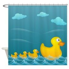 Yellow Rubber Duckies Shower Curtain For Rubber Duck Bathroom Duck Bathroom Curtains