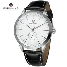 Find More Casual Watches Information about 4 Colors FORSINING Brand relojes Male Clock Top Mens Leather Ultrathin Automatic Mechanical Luxury Men Watch relogio masculino,High Quality men watch leather,China mens leather watch Suppliers, Cheap watches sport for men from YIKOO fashion watches on Aliexpress.com