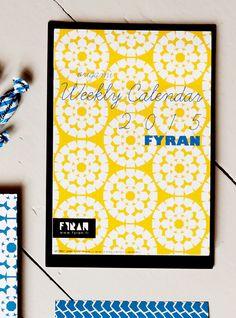 Mönsterkollektivet FYRAN / Origami weekly calendar / Art print Japan