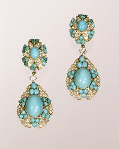 1960s Cartier turquoise earrings