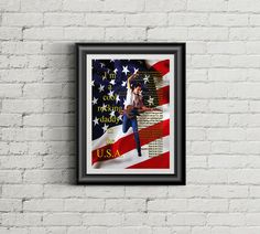 Born in the U.S.A. by Bruce Springsteen printable wall art - poster by PrintableSongParts on Etsy