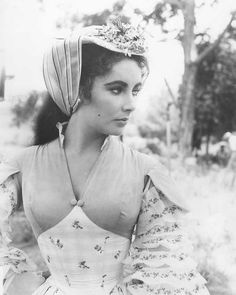 "gatabella: "" Elizabeth Taylor on the set of Raintree County, 1957 """