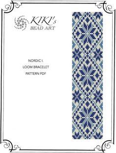Nordic I. LOOM bracelet cuff pattern PDF instant download                                                                                                                                                                                 More