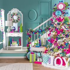 "Hobby Lobby on Instagram: ""Take ""merry and bright"" to a whole new level with our super colorful Funky Town #Christmas collection! #HobbyLobbyStyle #WhatYouMakeIt"""