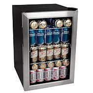 Holds 84 cans. perfect for the man cave or personal bar. college dorm :)