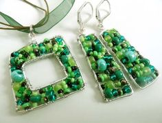 #Set earrings and necklace Forest    share .. repin .. like  :)      http://amzn.to/122lcJt