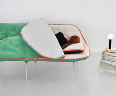 Sleeping bag sofa - the need is so mighty