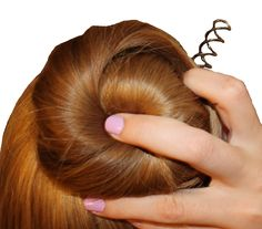 SPIN PIN BUN! Spin pins do the work of about 20 bobby pins and really hold your bun in place - need to try this for my daughters next ballet class!
