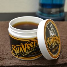 Love this stuff. Suavecito Pomade Firme (Strong) Hold Pomade - Water Based Pomade