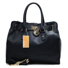 Modern Design Michael Kors Hamilton Large Black Totes Are Waiting For You To Come And Visit Here! #KORSSTYLE