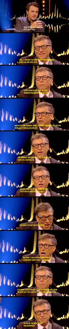 Funny pictures about Bill Gates' Most Annoying Myth. Oh, and cool pics about Bill Gates' Most Annoying Myth. Also, Bill Gates' Most Annoying Myth photos. Things To Think About, Good Things, Common Myths, Faith In Humanity Restored, Bill Gates, Atheism, Good People, Funny People, Thought Provoking