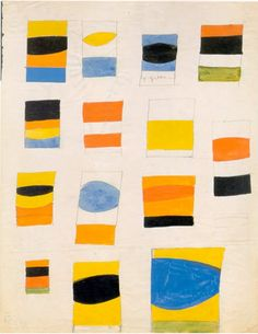 Ellsworth Kelly – Fourteen Projects – 1955 – Graphite, brush and gouache on paper – Private Collection
