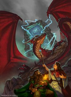 Dragonlance, Dragons of a New Age Trilogy, Eve of the Mealstrom by Matt Stawicki.