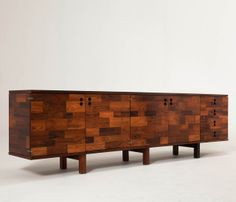 Jorge Zalszupin; Jacaranda Sideboard for L'Atelier, 1960s.