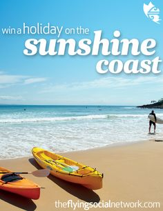 Win a holiday on the Sunshine Coast for you & a friend! Prize inc. flights, accommodation, activities & more! To be in to win, create a pinboard called 'Sunshine Coast Holiday' under 'Travel & Places'. Pin this image, then start adding inspirational images of the Sunshine Coast & things you would do if you won a holiday there (at least 6 images) with descriptions & tag them  #airnzsunshine then fill out the entry form here: http://theflyingsocialnetwork.com/sunshinecoast. NZ only…