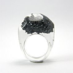pyrite ring - Black Uma Nh0je