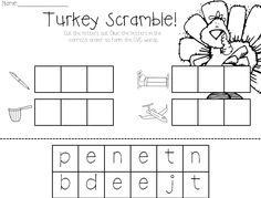 107 best kindergarten thanksgiving activities images on pinterest