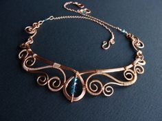 Princess Necklace in Nontarnish Copper by sparkflight on Etsy