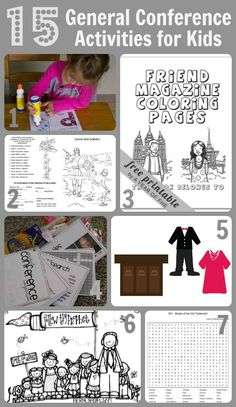 15 LDS General Conference Activities for Kids - A Little Tipsy