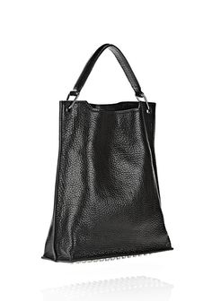 INSIDE OUT DARCY TOTE IN SHINY BLACK - Women Totes - Alexander Wang Official Site