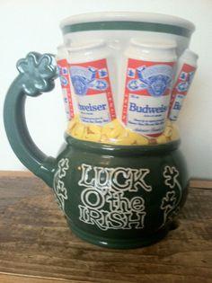1993 Budweiser Luck of the Irish Ceramic Stein Beer Mug St Patricks Day 22 oz