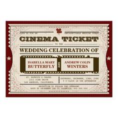 Cinema Ticket - #Wedding #Invitation