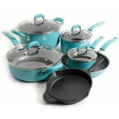 The Pioneer Woman Vintage Speckle 10-Piece Cookware Set $89 (10% off) @ Walmart