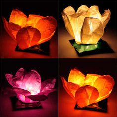 Floating Water Lanterns - package of 8 paper lanterns that float and 8 tea light candles.  These would be so lovely in the pool for a party.
