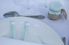 marque place pailles, mariage, wedding, bleu, cadeau pour invités, favors, mariage bleu et blanc, cadeau original