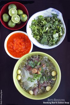 <p>Among the many soto, I would rank soto Bandung as one of the simplest to make. And probably the easiest to reproduce too if you live outside Indonesia since most of the ingredients are easily obtainable from a decent Asian grocers, so please give it a try. Oh, and don't …</p>