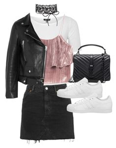 """Untitled #11227"" by minimalmanhattan ❤ liked on Polyvore featuring Topshop, Yves Saint Laurent, Acne Studios and adidas"