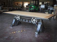"Black ""Bronx table"" by Vintage Industrial Design."