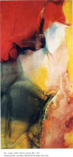 Abstract - Lotus, by Paul Jenkins, 1957 Reminds me of Frankenthaler's work. Ahead of his time.