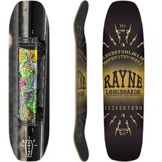 Rayne Slide Series Phantom V3 Longboard Skateboard Longboard Decks, Longboard Design, Rayne Longboards, Deck Design, Skateboards, Sticks, Sports, Hs Sports, Cover Design