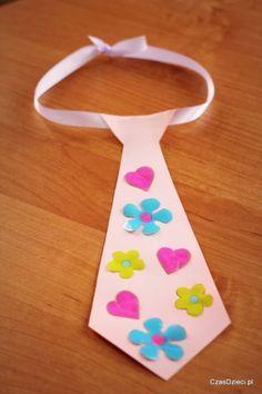 Laurka - krawat na Dzień Taty - DIY, Czas Dzieci Therapy Tools, Art For Kids, Diy And Crafts, Preschool, Education, Techno, Aga, Carnival, Ideas