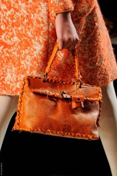 Orange Bottega Veneta Bag