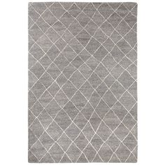 Safavieh Hand-Knotted Kenya Light Grey/ Ivory Wool Rug (6' x 9') | Overstock.com Shopping - The Best Deals on 5x8 - 6x9 Rugs