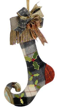 Lenae May 'Maggie' Fiber Art Christmas Stocking Christmas Fashion, Christmas Love, Christmas Countdown, Christmas Crafts Sewing, Christmas Gift Wrapping, Christmas Stocking Template, French Country Christmas, Purple Sofa, Frozen Themed Birthday Party
