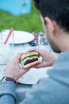 Beetroot And Tzatziki Burger   By Rutabaga