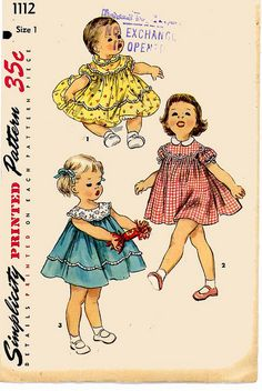 Simplicity 1112 child's vintage sewing pattern