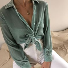 knotted button down shirt