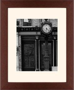 Clock Stand Framed Print, Brown, Contemporary, Cream, Cream, Single piece, 11 x 14 inches, White