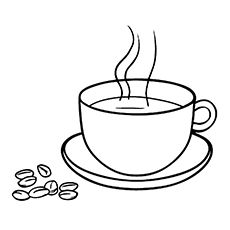 10 Coffee Coloring Pages For Your Little Coffee Lover Food Coloring Pages Coffee Drawing Tea Cup Drawing