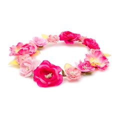 Pink Ombre Flowers Garland Headwrap
