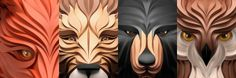 Designer Creates Striking 3D Vector Portraits Of Animals - DesignTAXI.com
